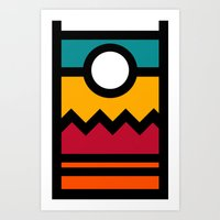 The Wall of colors Art Print