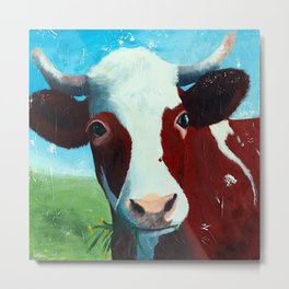 Animal - Daisy the Cow - by LiliFlore Metal Print