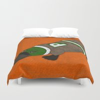 platypus Duvet Covers featuring Platypus by subpatch