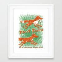 fleet foxes Framed Art Prints featuring Fleet Foxes Gigposter by atomic_ocean