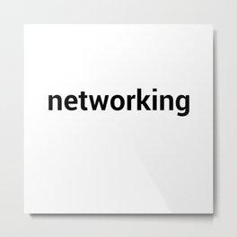 networking Metal Print