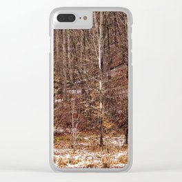 ohio woods Clear iPhone Case