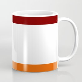 TEAM COLORS 8...Maroon , orange white Coffee Mug
