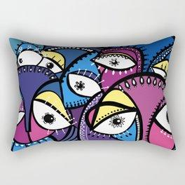 The Abstract Doodle Gang Rectangular Pillow