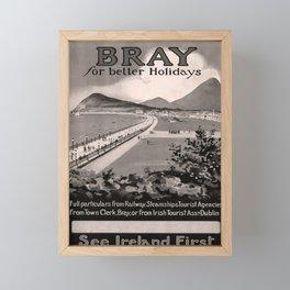 retro dark Bray for better Holidays old psoter Framed Mini Art Print