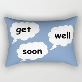 get well soon in blue Rectangular Pillow