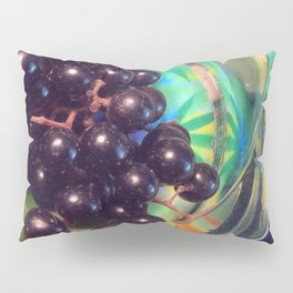 Muscadine Grapes and Glass Pillow Sham