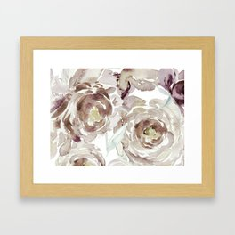 Earthy Painterly Floral Abstract Framed Art Print