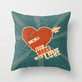 From Mars with love Throw Pillow