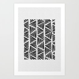 Black and White Abstract I Art Print