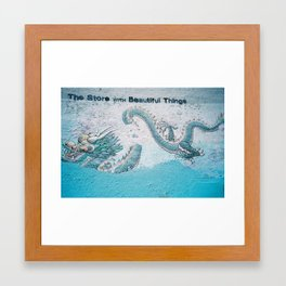 The Store with Beautiful Things - Dragon Memories Framed Art Print