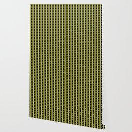 Darkest Blue and Yellow Stripe Pattern Design Wallpaper