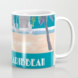 Western Caribbean Cruise Retro Travel Poster Coffee Mug