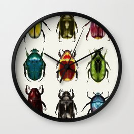 Scarab Beetles Wall Clock