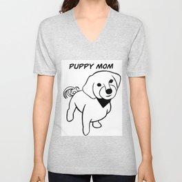 Puppy Mom Unisex V-Neck