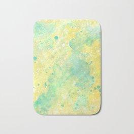 Lemon Teal Bath Mat