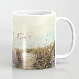 eat sleep beach Coffee Mug