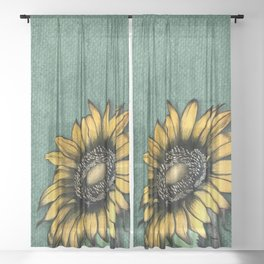 Sunflower Love Sheer Curtain