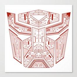 Autobot Tech Red Canvas Print