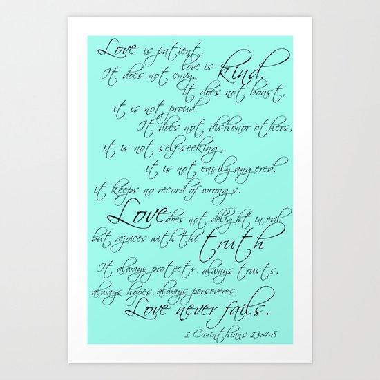1 Corinthians Art Print