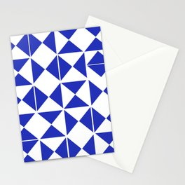 Mid Century Modern Blue Abstract Stationery Cards