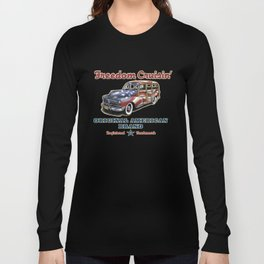 Freedom Crusin' Hawaiian Woody Design Long Sleeve T-shirt