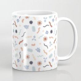 Vintage Microbiology - White Outlines on White Coffee Mug