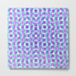 Purple, Blue & Green Pattern Metal Print