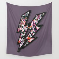 lightning Wall Tapestries featuring graffiti lightning! by gasponce