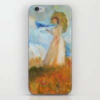 monet iPhone & iPod Skins featuring Monet Lady by KitaKita