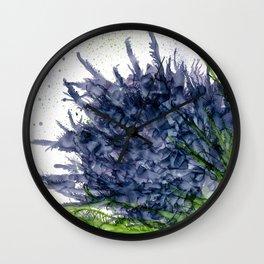 Purple Detonation Wall Clock