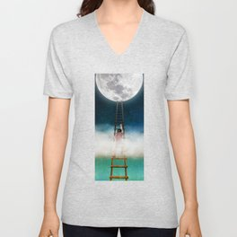 Reach for the Moon Unisex V-Neck