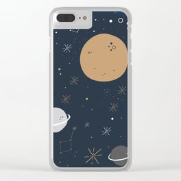 The Moon and the Stars Clear iPhone Case