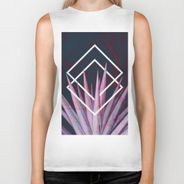 Tropical Desire at Night  #tropical #foliage #geometry Biker Tank