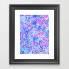 TIME FOR BUBBLY, AGAIN - Pastel Turquoise Baby Blue Purple Pink Feminine Bubbles Abstract Painting Framed Art Print