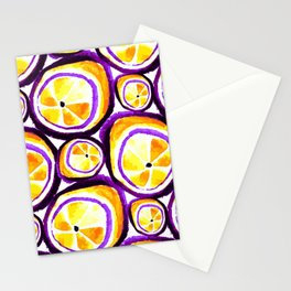 Sweet Plum Lemon Stationery Cards