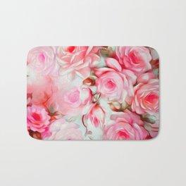 Shabby Chic Pink Bath Mat