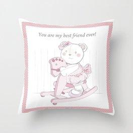 best friends ever v2 Throw Pillow