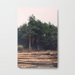 Sad timber industry Metal Print