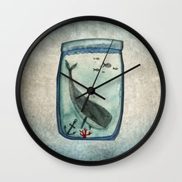 Whalewatching Wall Clock