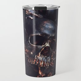 Black Gold Skull Travel Mug