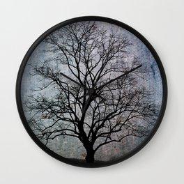 Bare Tree Gloomy Wall Clock