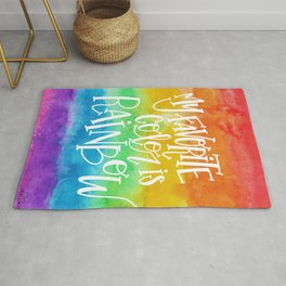 My Favorite Color is Rainbow Rug