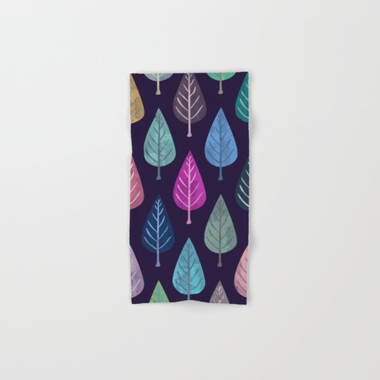 Watercolor Forest Pattern IV Hand & Bath Towel