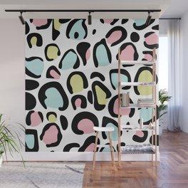80's leopard skin pattern Wall Mural