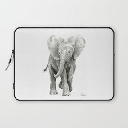 Baby Elephant Watercolor Laptop Sleeve