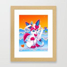LF Sylveon Framed Art Print