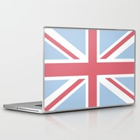union jack Laptop & iPad Skins featuring Union Jack by Alesia D