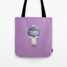 Hooded Furball Monster Tote Bag