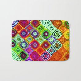 Mosaic Abstract Fractal Art Bath Mat